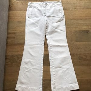 Theory white jeans w side pockets
